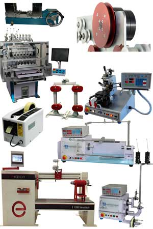 Winding machines and technology for transformers, toroids, chokes, solenoids