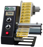 electronic label dispenser